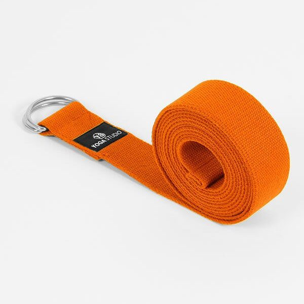 More Yoga | Belt Strap with D-Ring (Saffron)