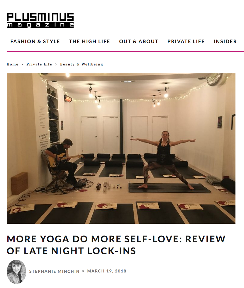 Late Night Lock Ins - MoreYoga