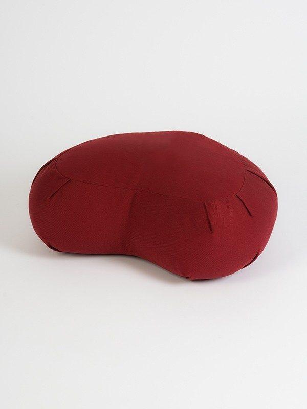 Yoga Studio European Organic Buckwheat Zafu Crescent Cushion | Burgundy