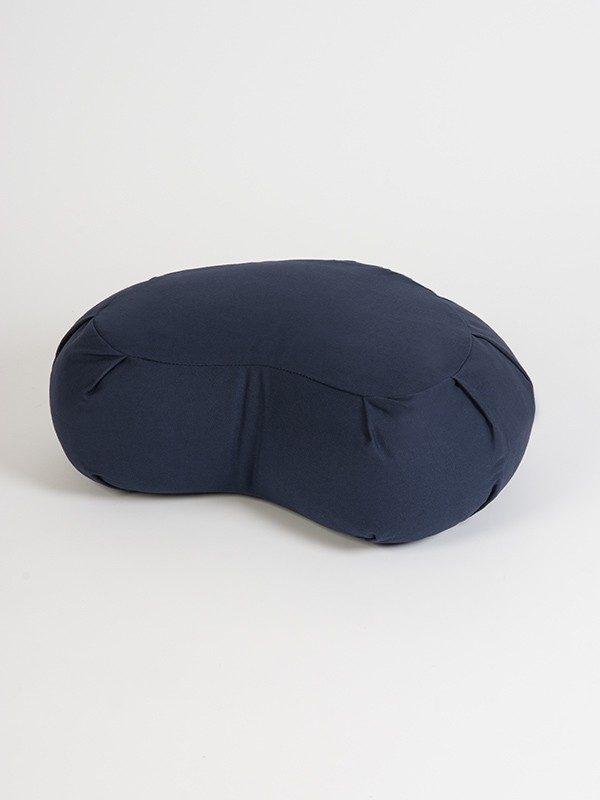 Yoga Studio European Organic Buckwheat Zafu Crescent Cushion | Navy Blue