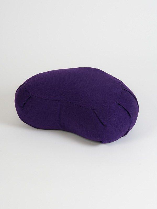 Yoga Studio European Organic Buckwheat Zafu Crescent Cushion | Purple