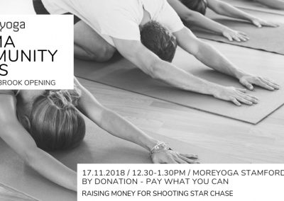 MoreYoga_Stamford Brook Opening Classes_17th Nov