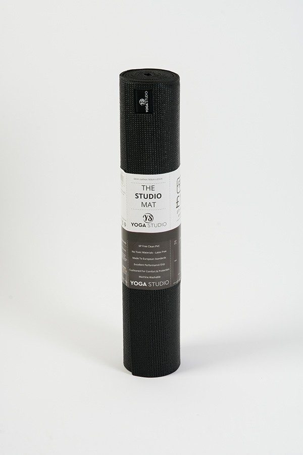 Deluxe 6mm Yoga Mat | Black (Rolled)