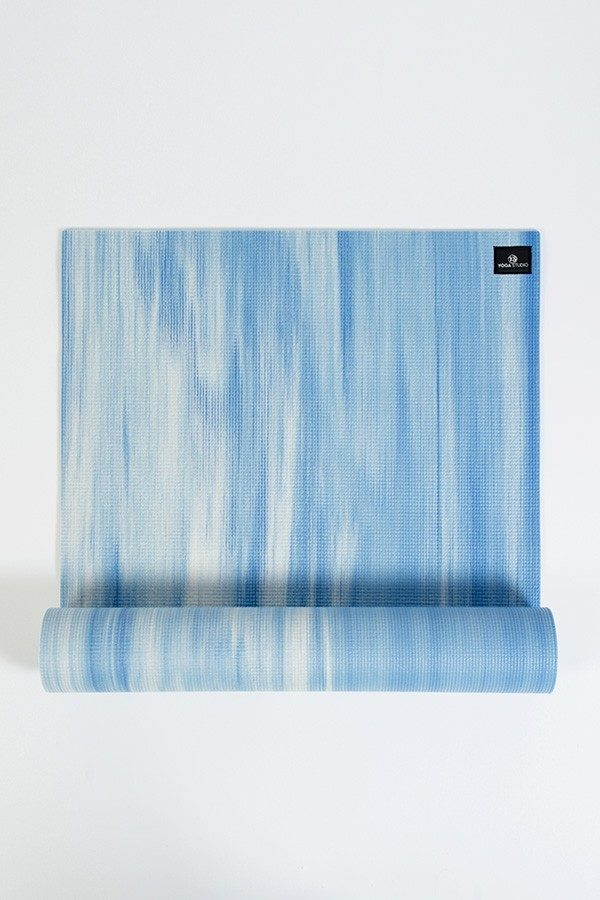 Deluxe 6mm Yoga Mat | Blue & White Mix (Main Image)