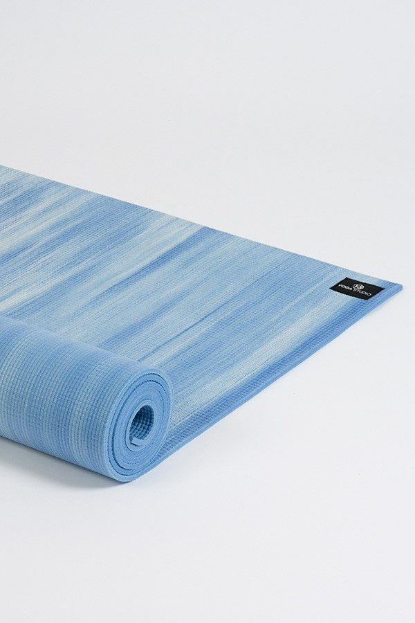 Deluxe 6mm Yoga Mat | Blue & White Mix (Side Image)