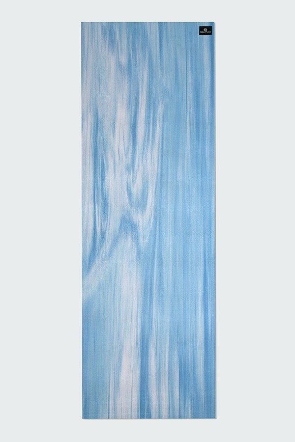 Deluxe 6mm Yoga Mat | Blue & White Mix (Flat)