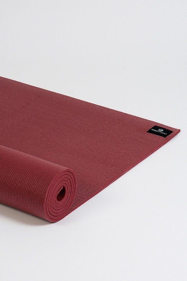 Deluxe 6mm Yoga Mat | Burgundy (Side Image)