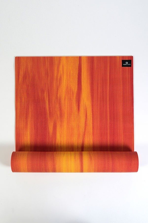 Deluxe 6mm Yoga Mat | Orange & Red Mix (Main Image)