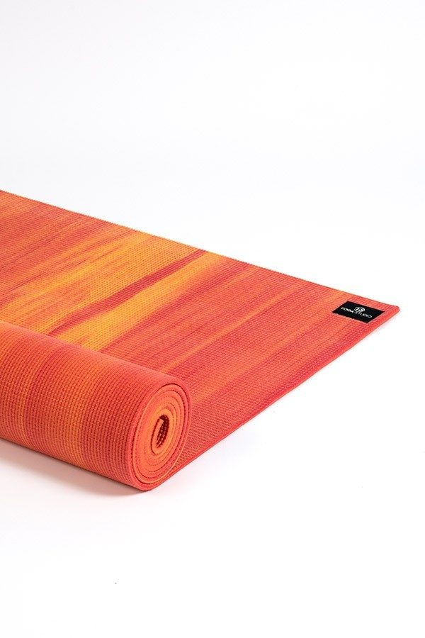 Deluxe 6mm Yoga Mat | Orange & Red Mix (Side Image)