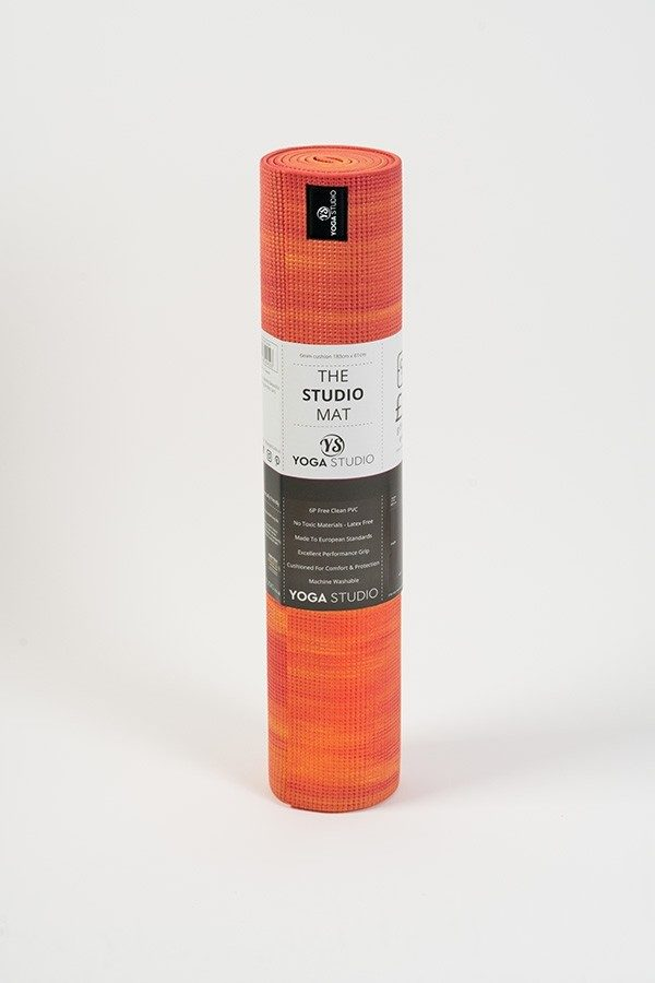 Deluxe 6mm Yoga Mat | Orange & Red Mix (Rolled)