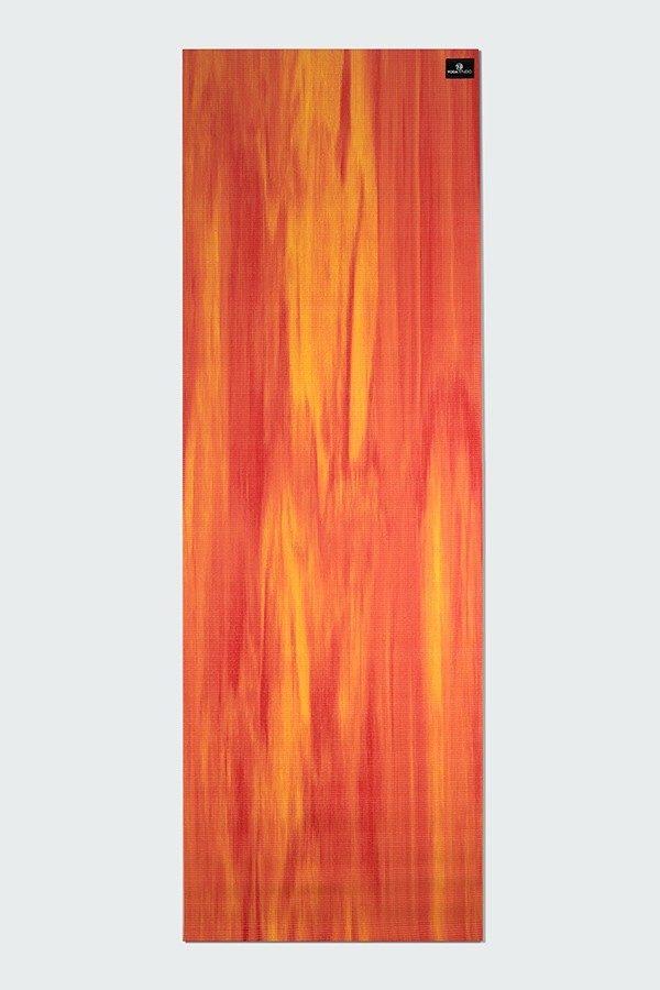 Deluxe 6mm Yoga Mat | Orange & Red Mix (Flat)
