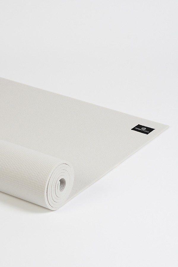 Deluxe 6mm Yoga Mat | White (Side Image)