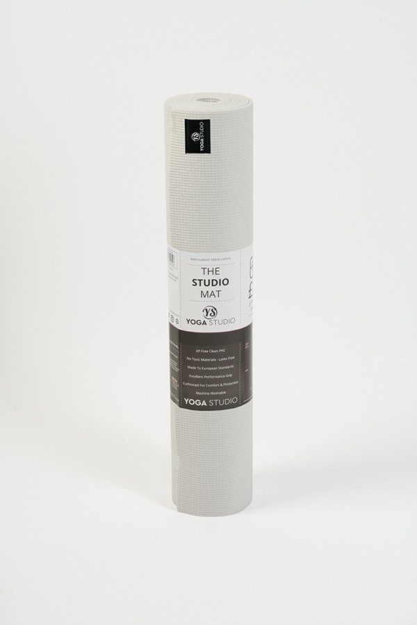 Deluxe 6mm Yoga Mat | White (Rolled)
