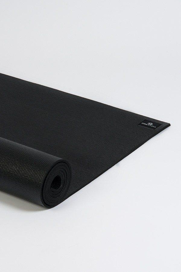 Lite 4mm Yoga Mat | Black (Side Image)