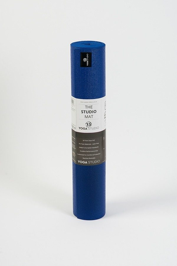 Lite 4mm Yoga Mat | Blue (Rolled)