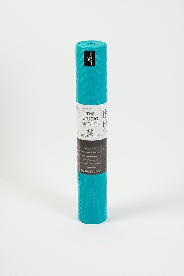 Lite 4mm Yoga Mat | Turquoise (Rolled)