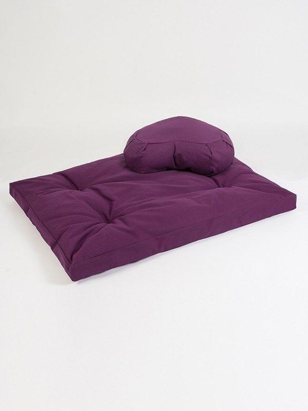 Yoga Studio European Zabuton & Crescent Cushion Organic Kit | Lilac