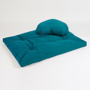 Yoga Studio European Zabuton & Crescent Cushion Organic Kit | Teal