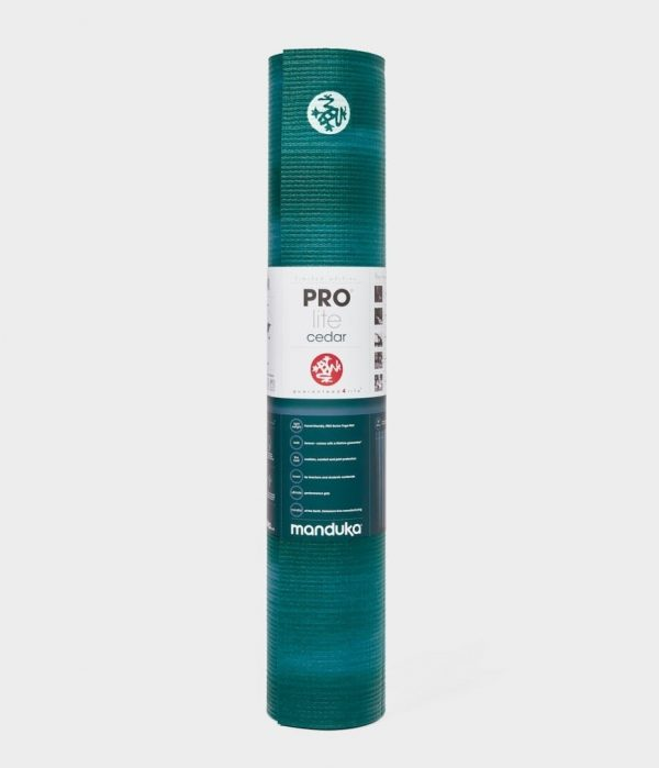 Manduka Prolite Yoga Mat | Cedar - Rolled with label