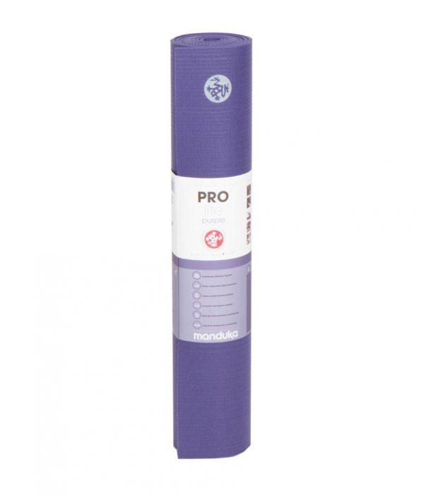 Manduka Prolite Yoga Mat | Purple - Rolled with label