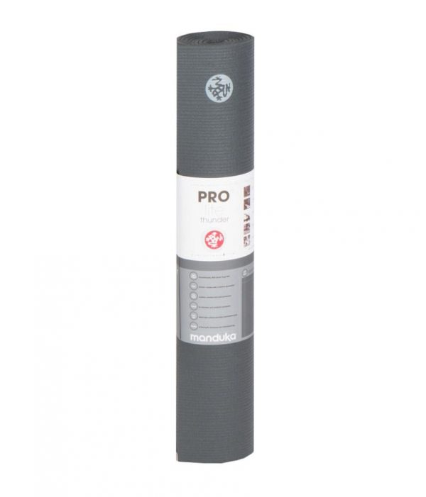 Manduka Prolite Yoga Mat | Thunder - Rolled with label