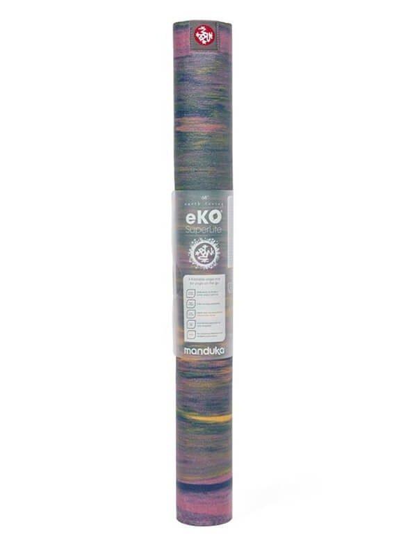Manduka eKO SuperLite Travel Yoga Mat   Saiga - Rolled with label