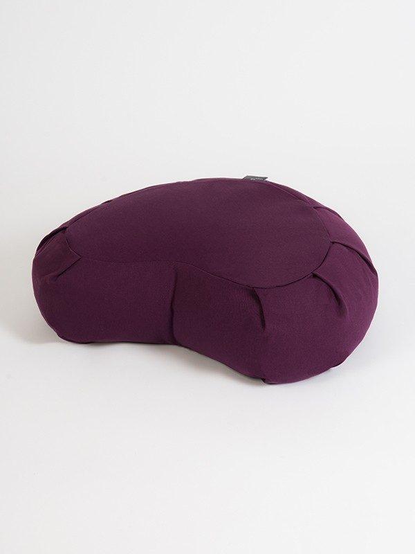 Yoga Studio European Organic Buckwheat Zafu Crescent Cushion | Lilac