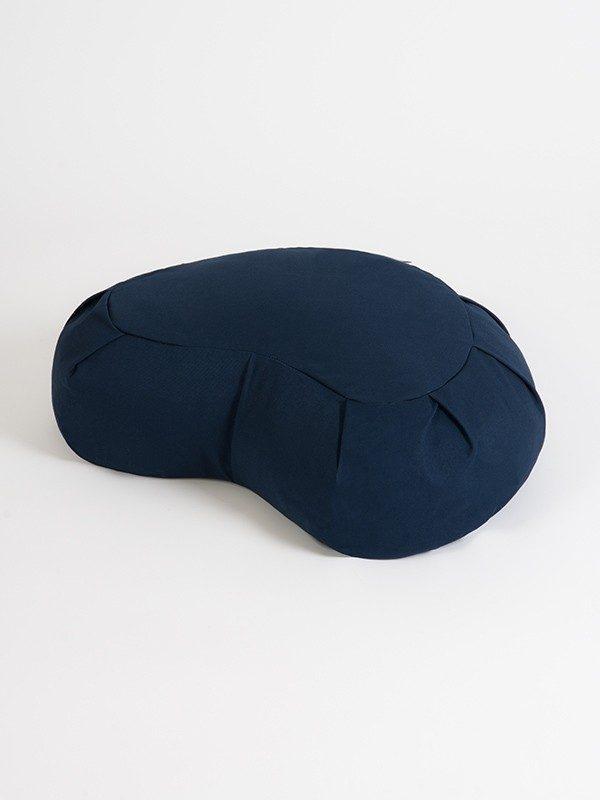 Yoga Studio European Organic Buckwheat Zafu Crescent Cushion | Navy