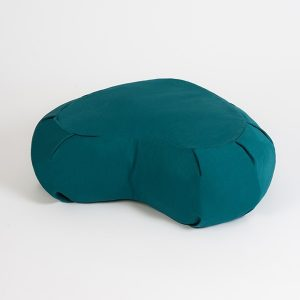 Yoga Studio European Organic Buckwheat Zafu Crescent Cushion | Teal