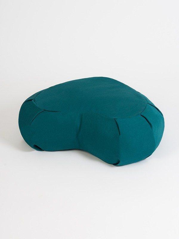 Yoga Studio European Organic Buckwheat Zafu Crescent Cushion | Teal