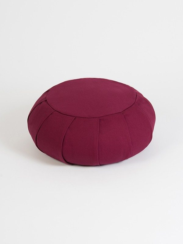 Yoga Studio European Organic Buckwheat Zafu Round Cushion | Burgundy