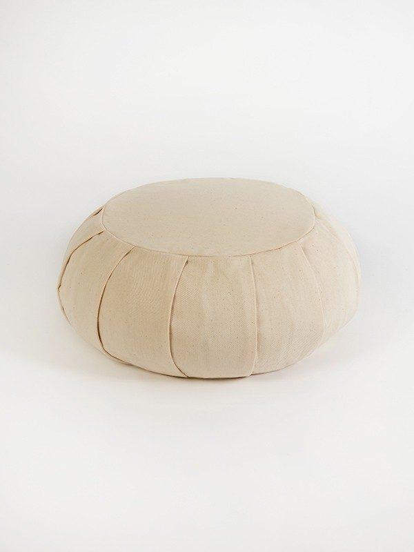 Yoga Studio European Organic Buckwheat Zafu Round Cushion | Ecru