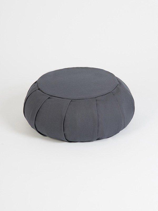 YogaStudioaYoga Studio European Organic Buckwheat Zafu Round Cushion | Grey