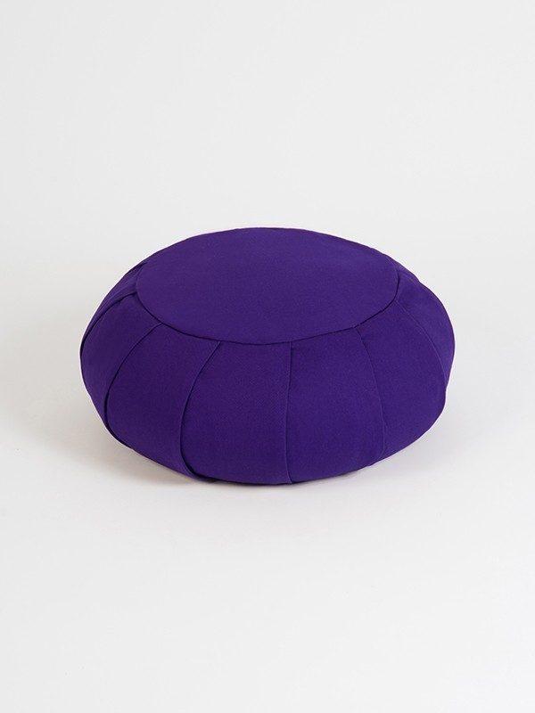 YogaStudio_aYogaStudioaYoga Studio European Organic Buckwheat Zafu Round Cushion | Purple