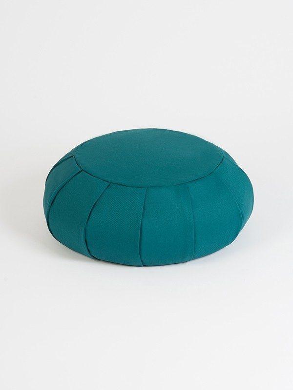 YogaStudio_aYogaStudioaYoga Studio European Organic Buckwheat Zafu Round Cushion | Teal