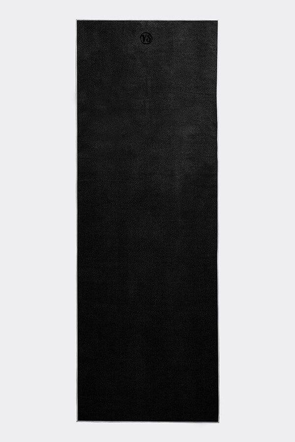 Premium Yoga Mat Grip Dot Towels | Black (Flat)