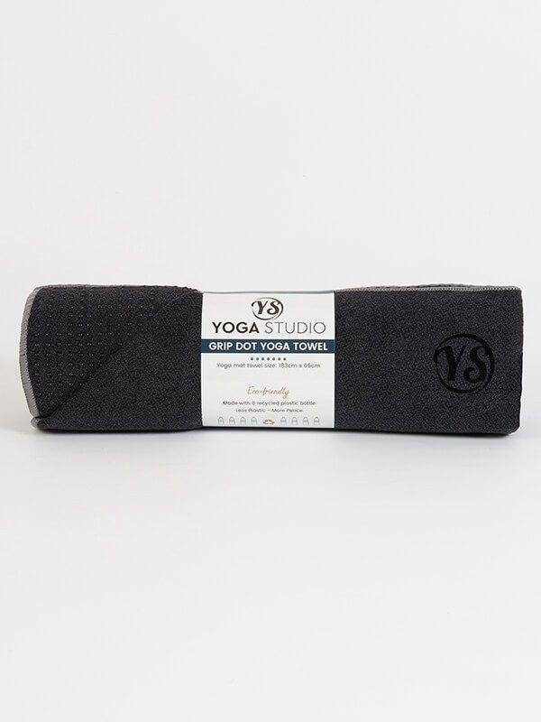 Premium Yoga Mat Grip Dot Towels | Black (Rolled)