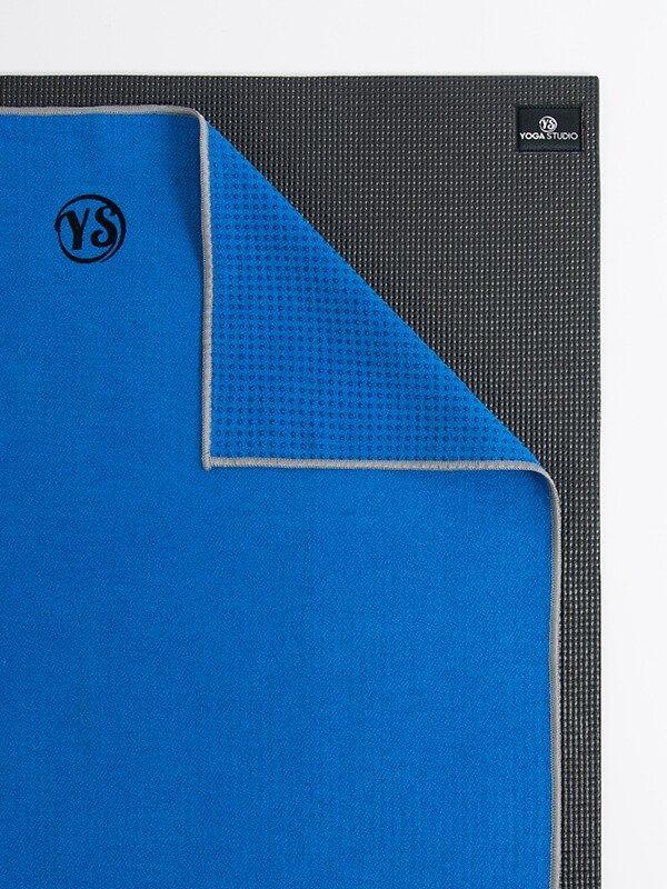 Premium Yoga Mat Grip Dot Towels | Blue (Folded Corner)
