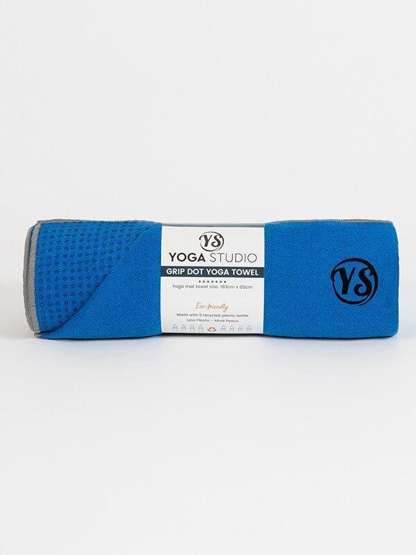 Premium Yoga Mat Grip Dot Towels | Blue (Rolled)