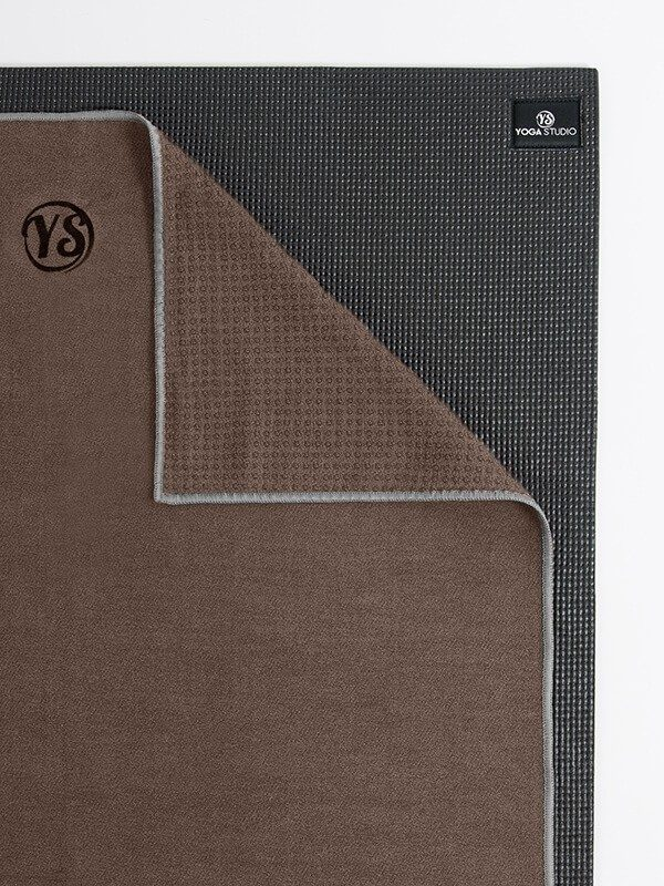 Premium Yoga Mat Grip Dot Towels | Coffee (Folded Corner)