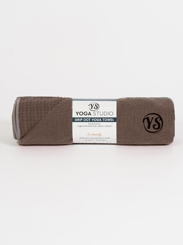 Premium Yoga Mat Grip Dot Towels | Coffee (Rolled)