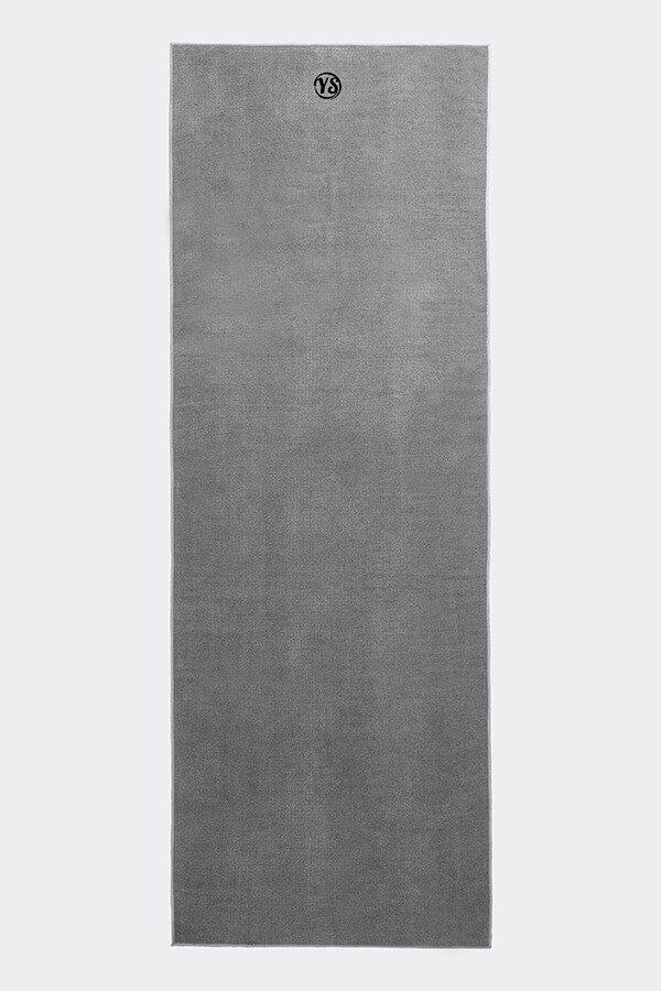 Premium Yoga Mat Grip Dot Towels | Grey (Flat)
