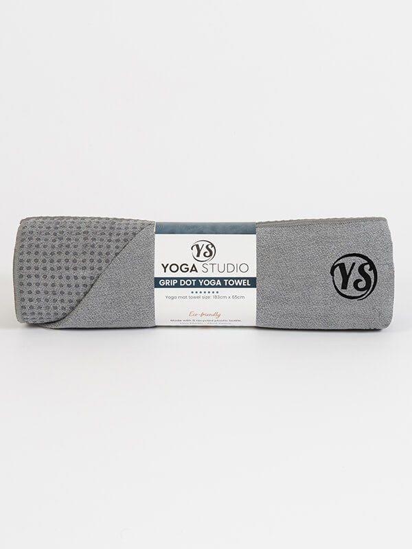 Premium Yoga Mat Grip Dot Towels | Grey (Rolled)