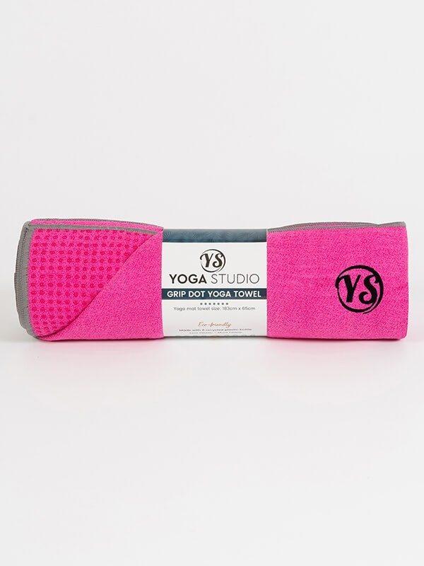 Premium Yoga Mat Grip Dot Towels | Hot Pink (Rolled)