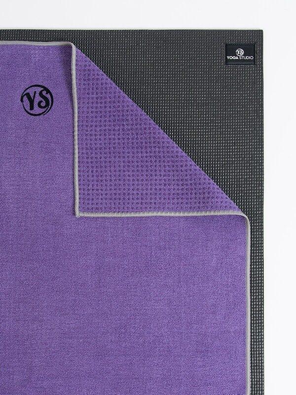 Premium Yoga Mat Grip Dot Towels | Purple (Folded Corner)