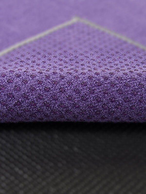 Premium Yoga Mat Grip Dot Towels | Purple (Dot Detail)
