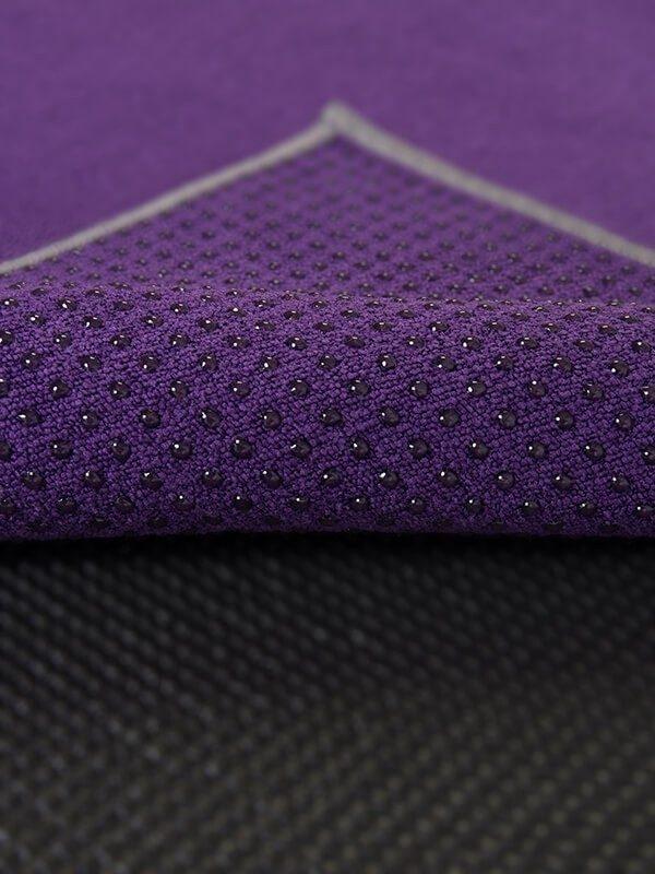 Premium Yoga Mat Grip Dot Towels | Dark Purple (Dot Detail)