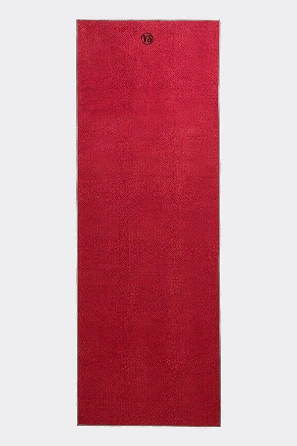 Premium Yoga Mat Grip Dot Towels | Red (Flat)