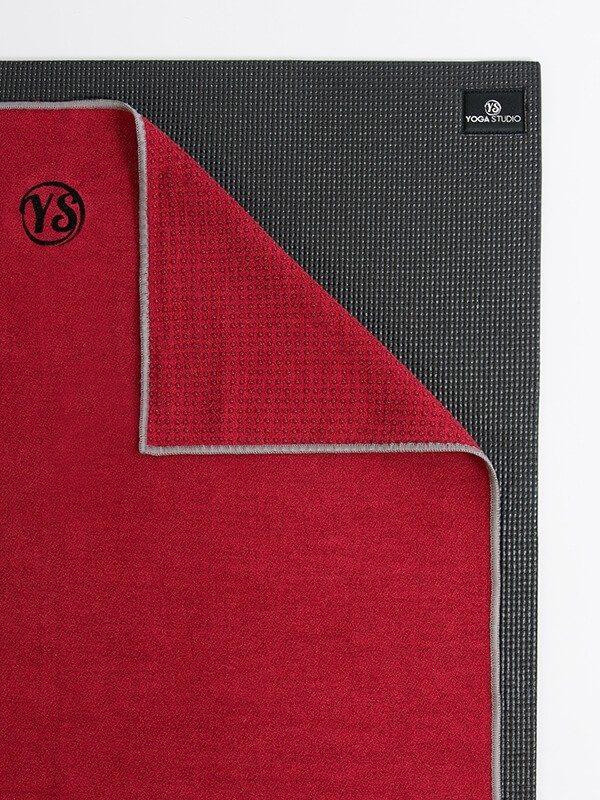 Premium Yoga Mat Grip Dot Towels | Red (Folded Corner)