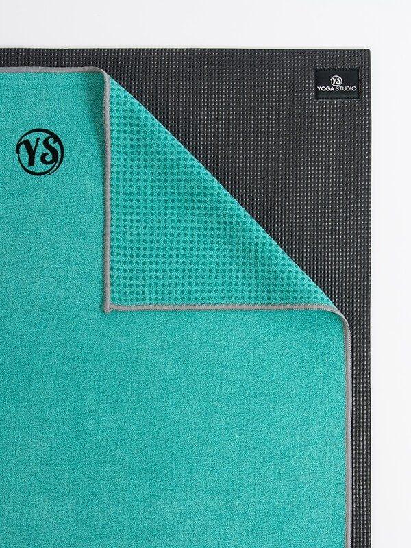 Premium Yoga Mat Grip Dot Towels | Turquoise (Folded Corner)